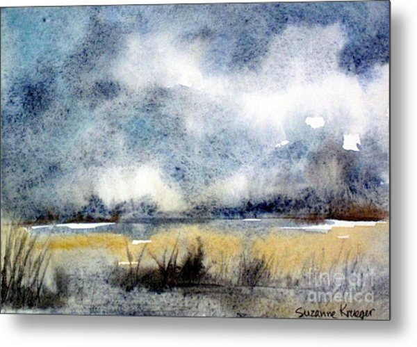 Gray Day Metal Print by Suzanne Krueger
