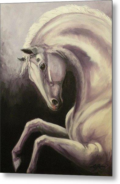 Gray Horse Fantasy Metal Print by Liz Rose