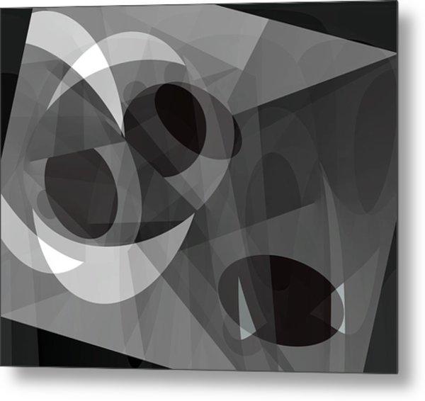 Gray On Gray Metal Print by Lynda Lehmann
