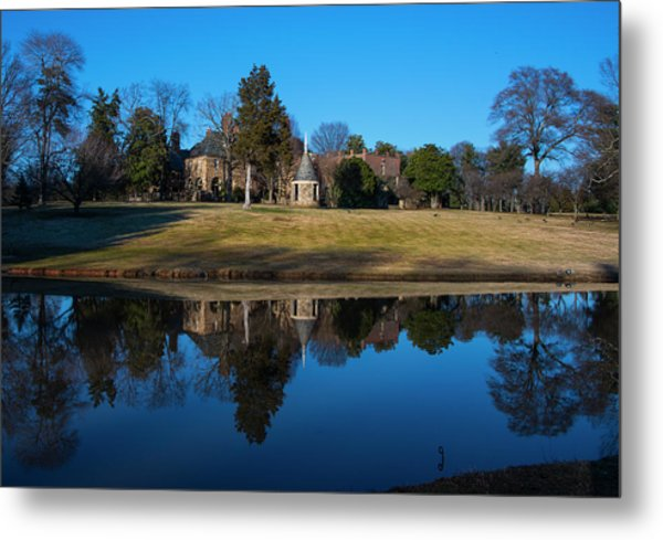 Graylyn House In Reflection Metal Print