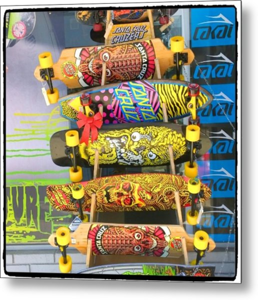 Great Art On These Skateboards! Metal Print