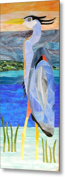 Great Blue Heron 2 Metal Print by Charles McDonell