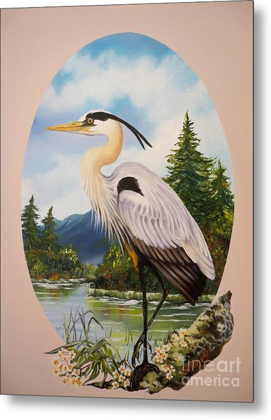 Flying Lamb Productions                 Great Blue Heron Metal Print