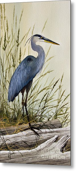 Great Blue Heron Splendor Metal Print