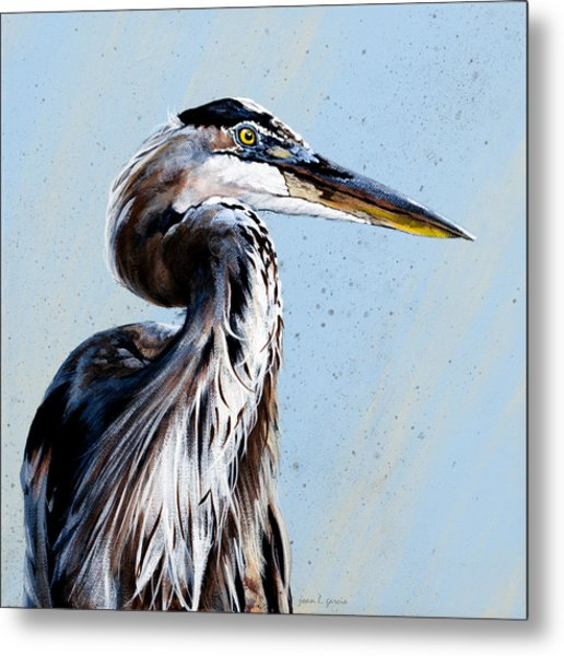 Great Blue Theodore Metal Print