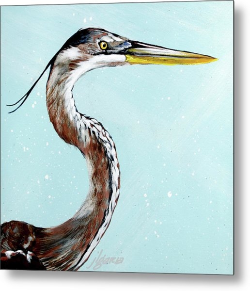 Great Blue Winston Metal Print