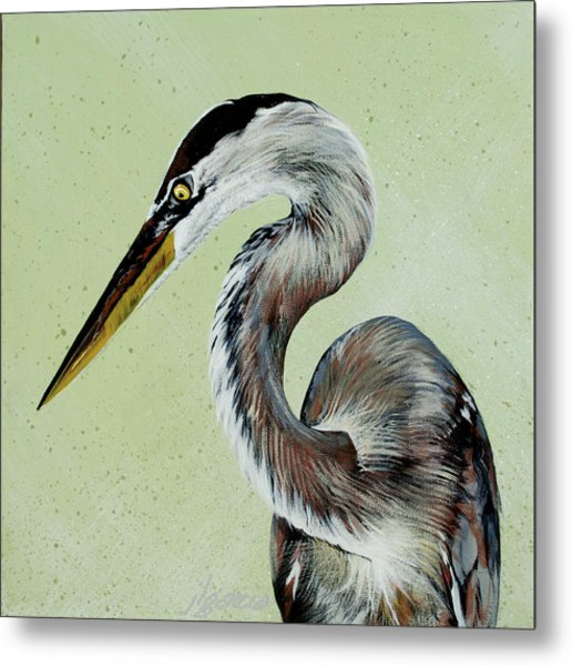 Great Blue Milton Metal Print