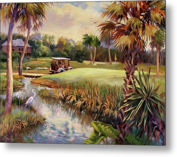 Great Day For Golf Metal Print by Dianna Willman