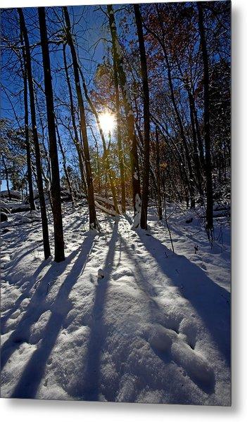 Great Falls Park Virginia After A Winter Blast Metal Print by Brendan Reals