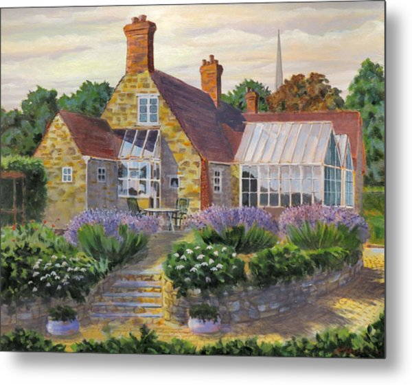 Great Houghton Cottage Metal Print