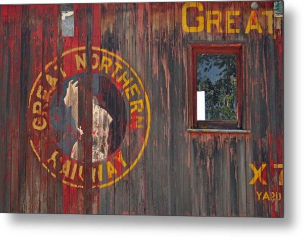 Great Northern Railway Old Boxcar Metal Print