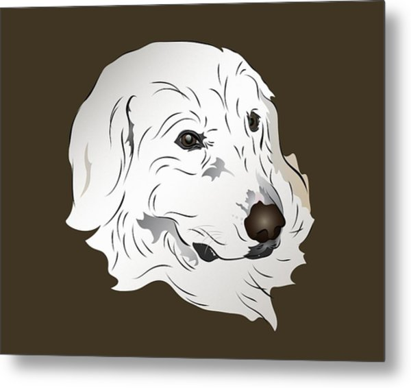 Great Pyrenees Dog Metal Print