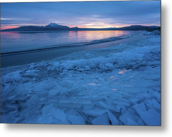 Great Salt Lake Ice Sheets Metal Print
