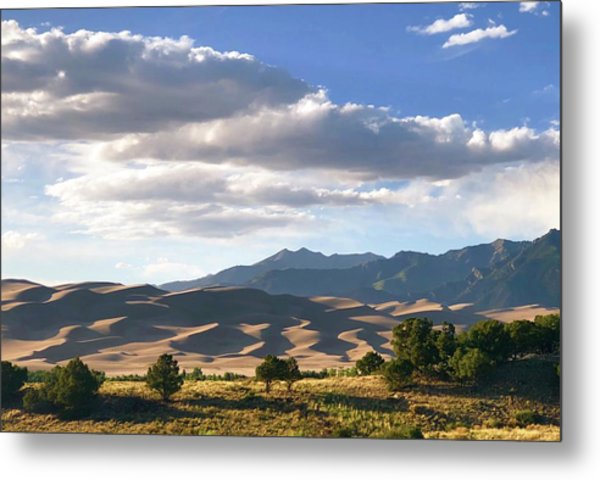 Great Sand Dunes At Dusk Metal Print