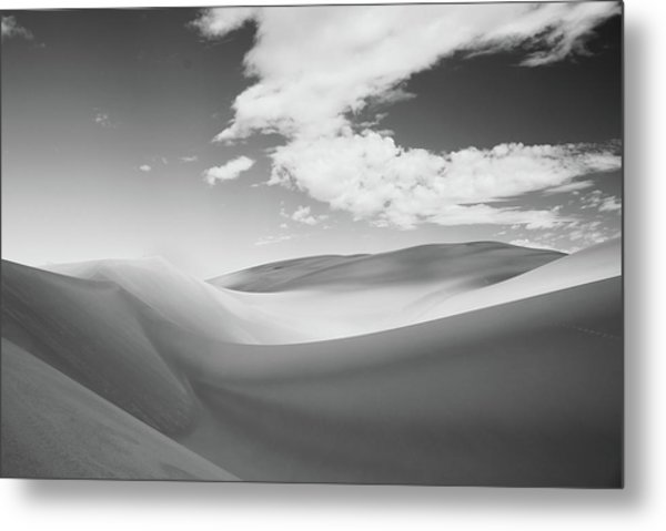 Great Sand Dunes National Park In Black And White Metal Print