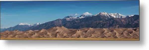 Metal Print featuring the photograph Great Sand Dunes Panorama 4to1 by Stephen Holst