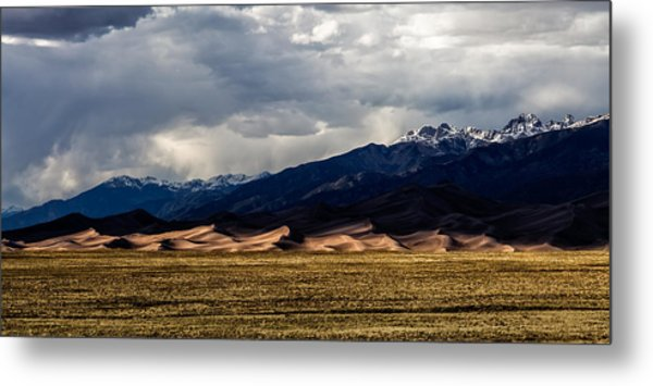 Great Sand Dunes Panorama Metal Print