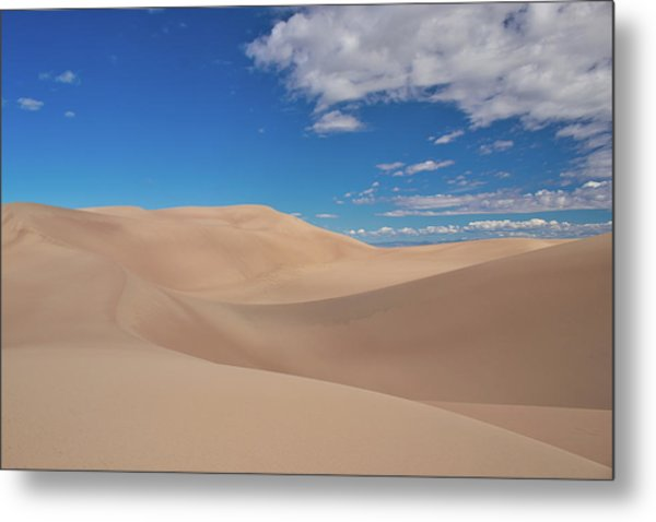 Great Sand Dunes Under A Blue Sky Metal Print
