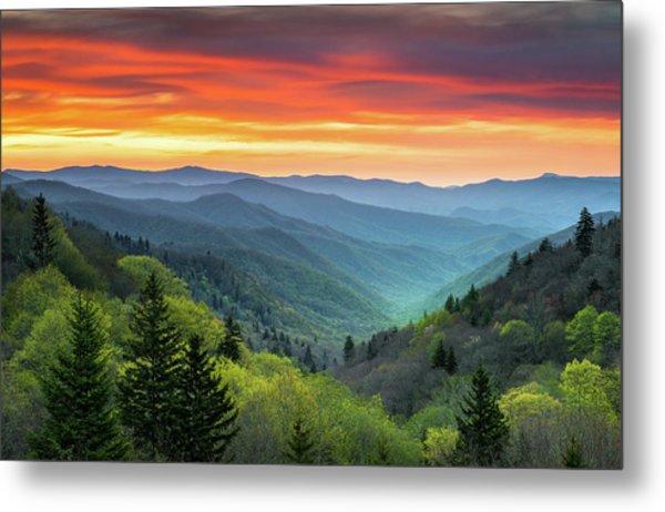 Great Smoky Mountains National Park Gatlinburg Tn Scenic Landscape Metal Print