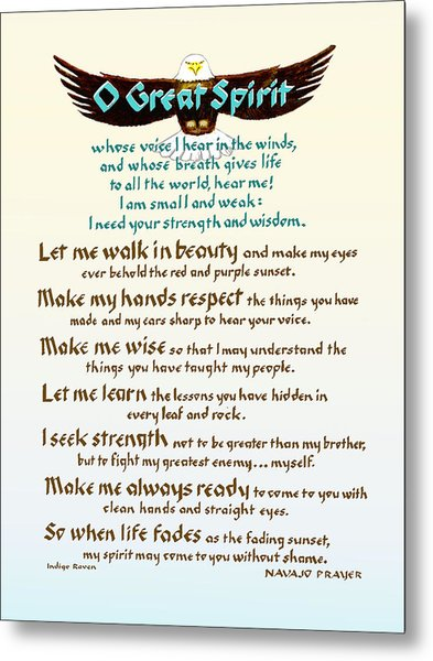 Great Spirit Prayer Metal Print