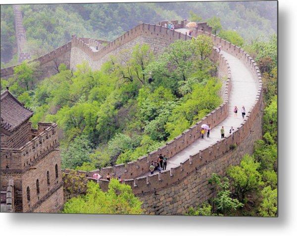 Great Wall At Badaling Metal Print