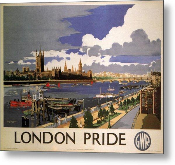Great Western Railway - London Pride - Retro Travel Poster - Vintage Poster Metal Print