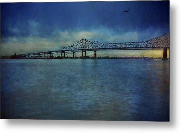 Greater New Orleans Bridge Metal Print