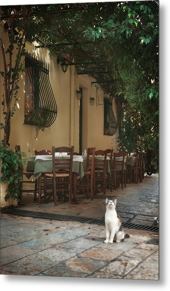 Greek Streets - Corfu Metal Print