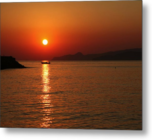 Greek Sunrise Metal Print