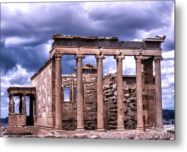 Metal Print featuring the photograph Greek Temple by Linda Constant
