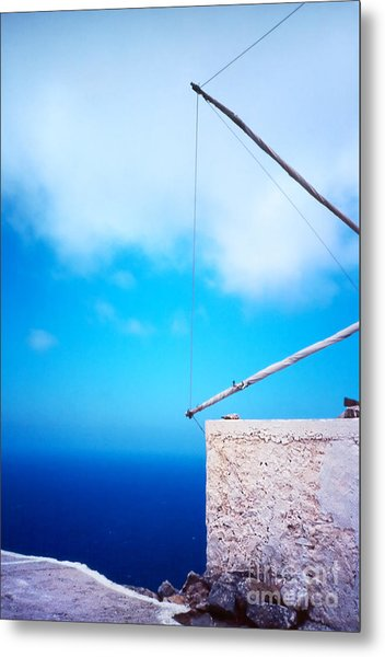 Greek Windmill Metal Print