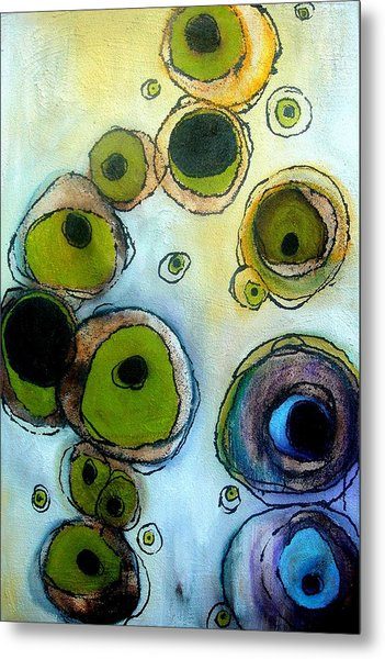 Green And Blue Metal Print by Lizzie  Johnson