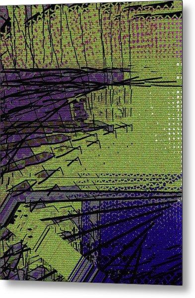 Green And Purple Field Metal Print
