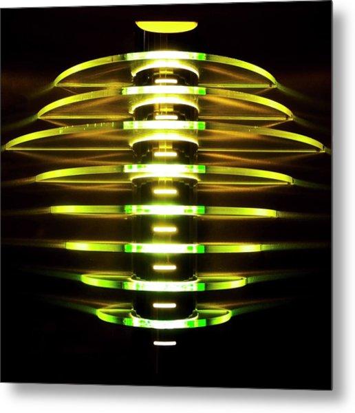 Green And Yellow Light Reflectors Metal Print