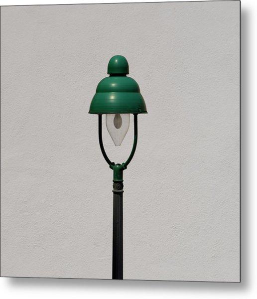 Green Bavarian Lamp Metal Print