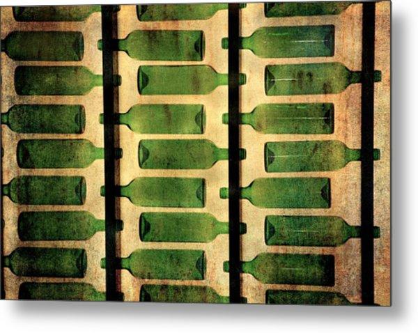 Green Bottles Metal Print