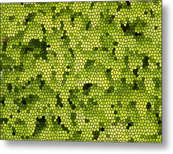 Green Curtain Metal Print by James Granberry