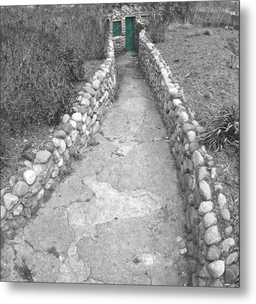 Green Door Metal Print by Elizabeth Reynders