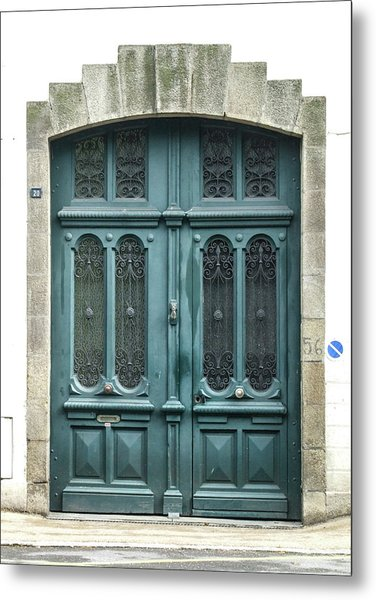 Green Door Metal Print