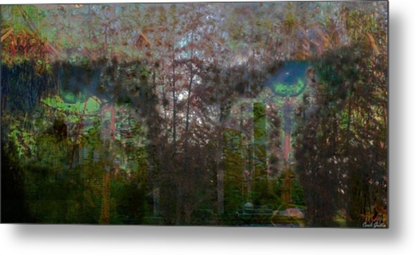 Green Eyes' Reflections Metal Print by Carole Guillen