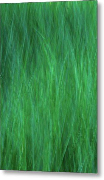 Green Fire 2 Metal Print