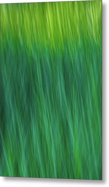 Green Fire 4 Metal Print