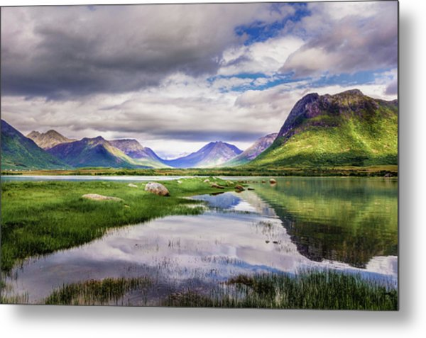 Green Hills Of Vesteralen Metal Print