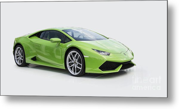 Green Huracan Metal Print