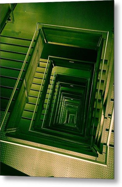 Green Infinity Metal Print