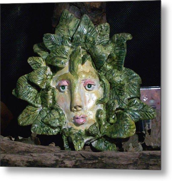 Green Lady Metal Print