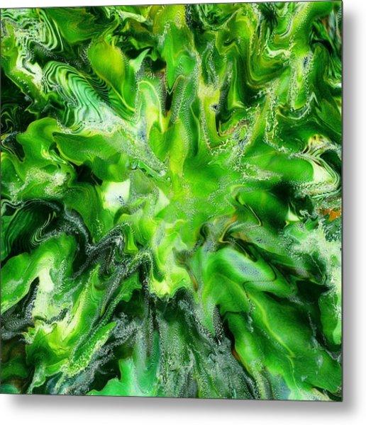 Green Leaf Metal Print by Paul Tokarski