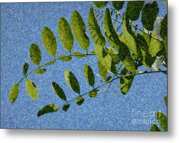 Green Leaves 2 Metal Print