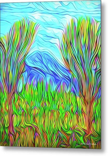 Green Meadow Day Metal Print