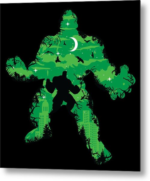 Metal Print featuring the digital art Green Monster by Christopher Meade